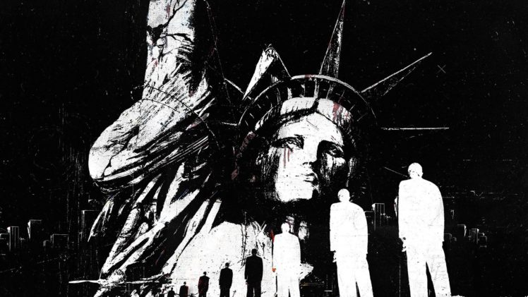 Statue of Liberty, Monochrome HD Wallpaper Desktop Background