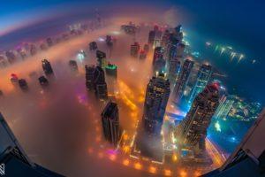 cityscape, City, Mist, Skyscraper, Dubai