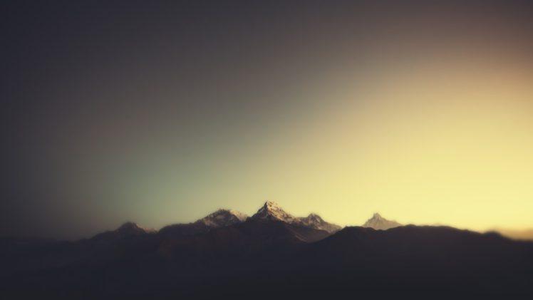 minimalism, Mountain, Sunlight HD Wallpaper Desktop Background