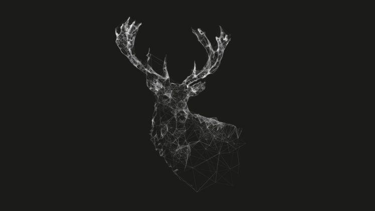 deer, Lines, Minimalism, Wireframe HD Wallpaper Desktop Background