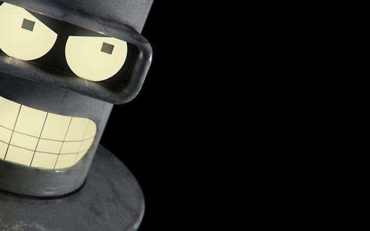 Futurama, Bender, Minimalism HD