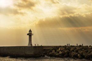 lighthouse, Sunlight