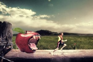 photo manipulation, Men, Apples, Tiger, Adobe Photoshop