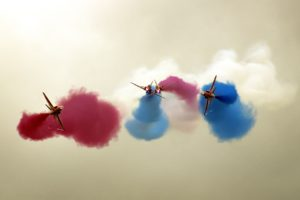 contrails, Airshows, Smoke