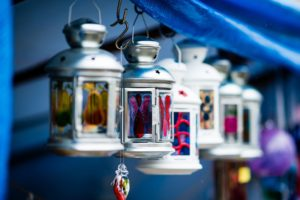 lantern, Decorations, Stained glass