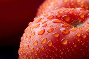 tomatoes, Food, Water drops, Closeup