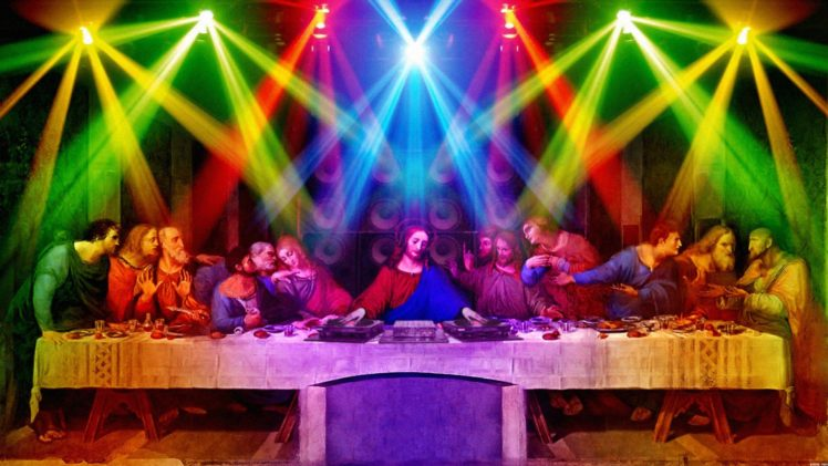 anime, 12 Disciples, Nightclubs, The Last Supper HD Wallpaper Desktop Background