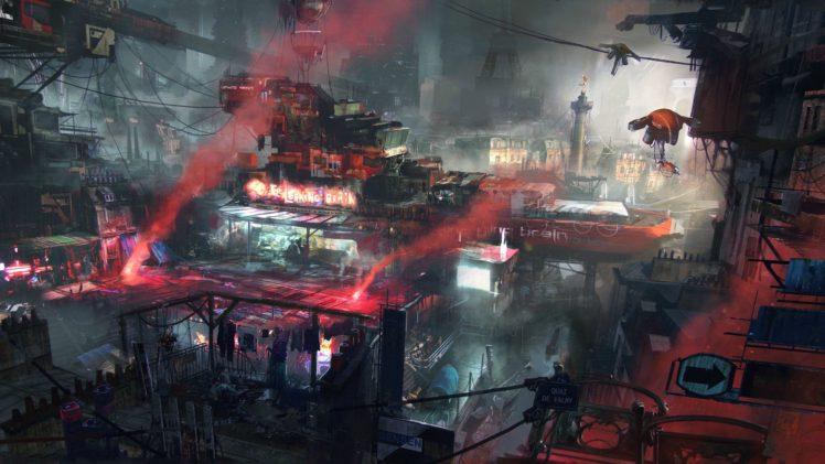 cyberpunk, Remember Me, Futuristic, Red, Environment, Robot, War, Drone, Machine HD Wallpaper Desktop Background