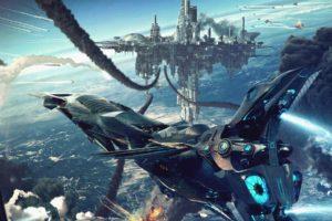 cyberpunk, Science fiction, Aircraft, Futuristic