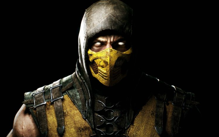 Scorpion (character), Mortal Kombat, Yellow, Leather armor HD Wallpaper Desktop Background