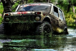 lada niva, 4×4, Mud, Dirty