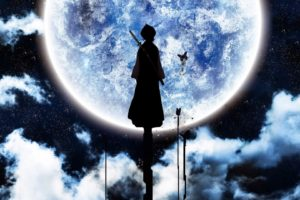 anime, Kuchiki Rukia, Bleach, Moon