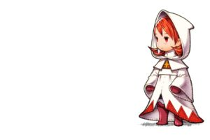 minimalism, Final Fantasy, White Mage, Video games