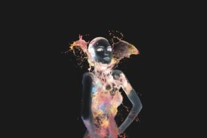 space, Negative, Artistic nude