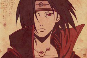 Uchiha Itachi, Red eyes, Akatsuki, Anime boys, Writing