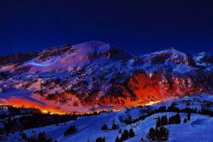 mountains, Night