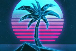 vaporwave, 1980s, Texture, Neon
