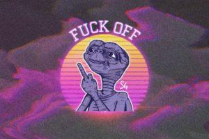 E.T., Fuck, New Retro Wave, Glitch art, Pixels, Pixelated, Profanity, Middle finger