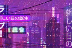 cityscape, Neon text, New Retro Wave