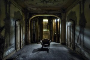 house, Chair, Spooky, Abandoned