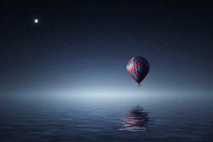 landscape, Hot air balloons