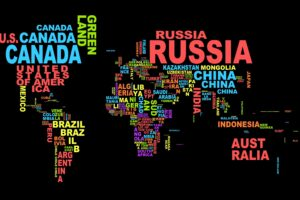 countries, Typography, World map