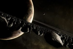 Saturn, Space, Rock, Planet