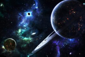 planet, Space, Stars