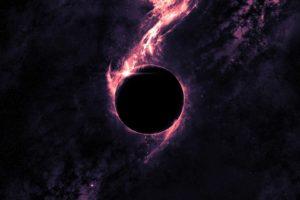 purple, Space, Black holes, Galaxy, Digital art, Space art, Artwork