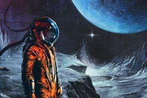 space suit, Astronaut, Artwork, Space, Science fiction, Space art