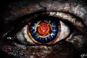 blue eyes, Red eyes