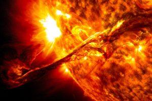 stars, Space, Planet, Galaxy, Solar flare