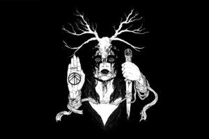 creepy, Simple background, Fan art, Black background, Horns, Digital art, Dark, Minimalism