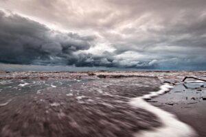 nature, Landscape, Clouds, Water, Sea, Rock, Beach, Sand, Long exposure, Horizon