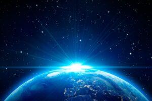 Earth, Space, Stars, Sunrise