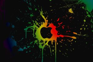 Apple Inc., Colorful, Paint splatter