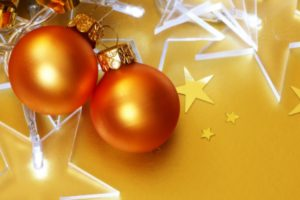 New Year, Snow, Christmas ornaments, Stars