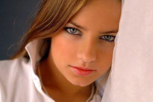 face, Women, Blue eyes