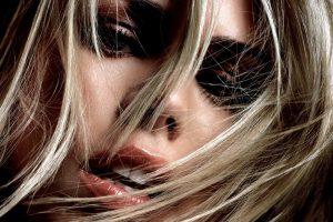Billie Piper, Hair in face, Blonde, Face, Closeup