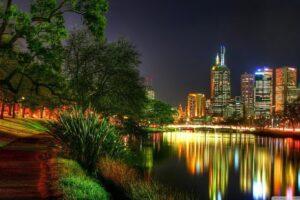 Melbourne, Australia, Night, Lights