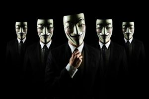 Anonymous, Men, Suits, Guy Fawkes mask, Black background