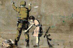 children, Banksy, Graffiti