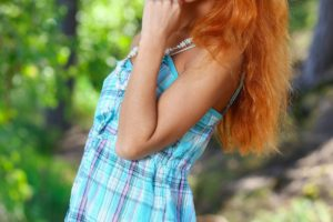 women, Model, Redhead, Long hair, Roberta Berti, Blue eyes, Smiling, Women outdoors, Femjoy Magazine