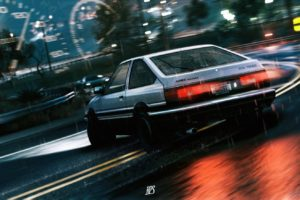 car, Initial D, Drift, Toyota AE86