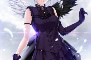 anime, Anime girls, Dress, Wings, Gray hair, Twintails, THE iDOLM@STER: Cinderella Girls, Kanzaki Ranko