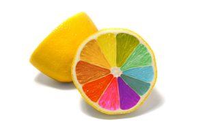 colorful, Food, Simple background, Minimalism, Lemons
